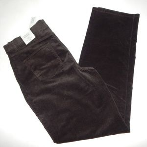 Croft & Barrow Size 14 Long Brown Corduroy Pants